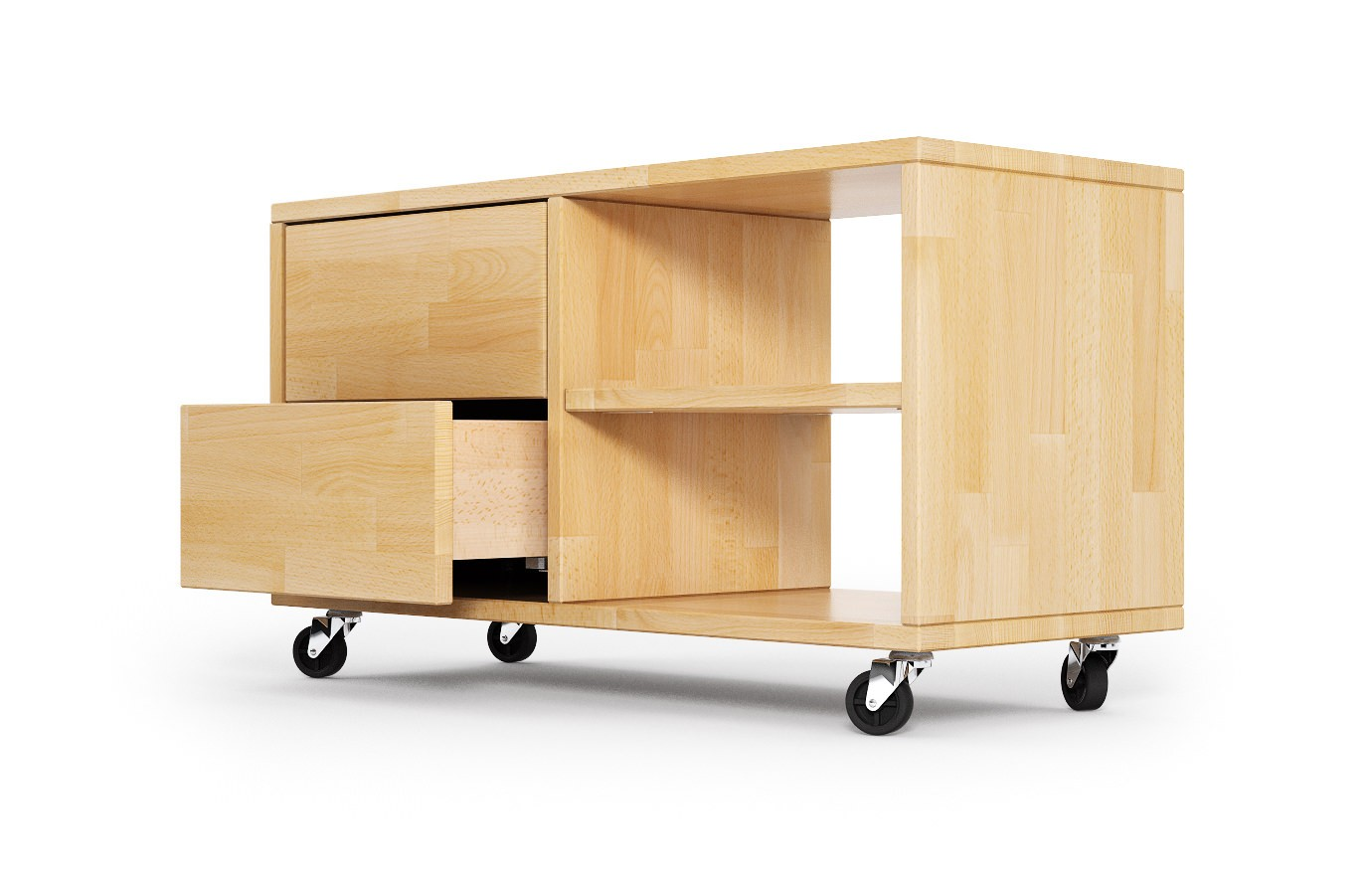 bender in buche hifi rollcontainer nach ma. Black Bedroom Furniture Sets. Home Design Ideas