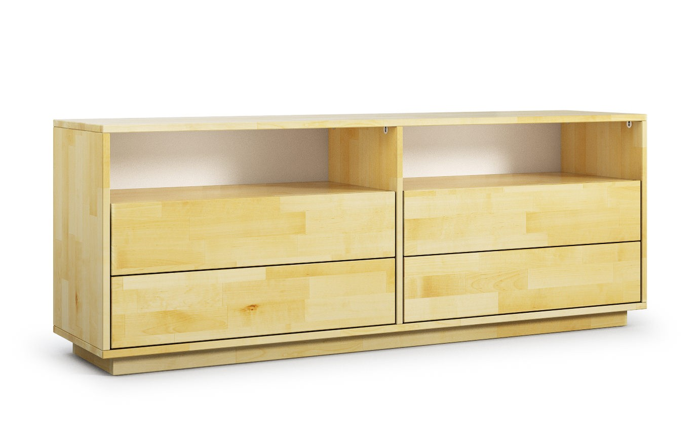 larisa in birke hifi sideboard nach ma. Black Bedroom Furniture Sets. Home Design Ideas